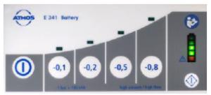 ATMOS E 341 Battery suction display
